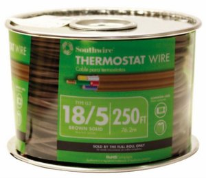 Thermostat wire coil 18/5 new cable for thermostat c wire